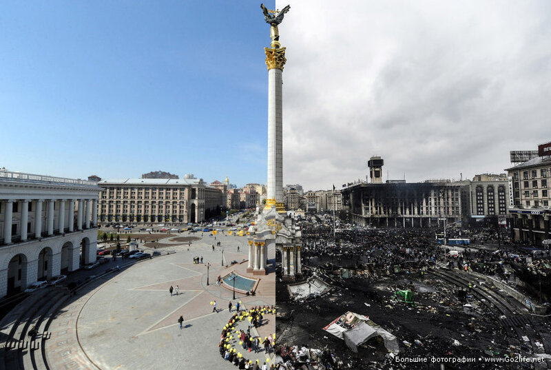 До и после погромов