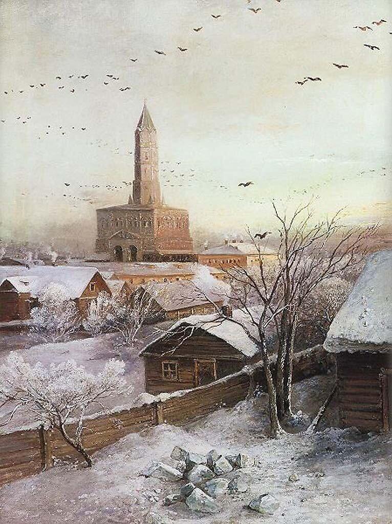Сухаревская башня, 1872, Москва, Саврасов, Алексей Кондратьевич(1830—1897);