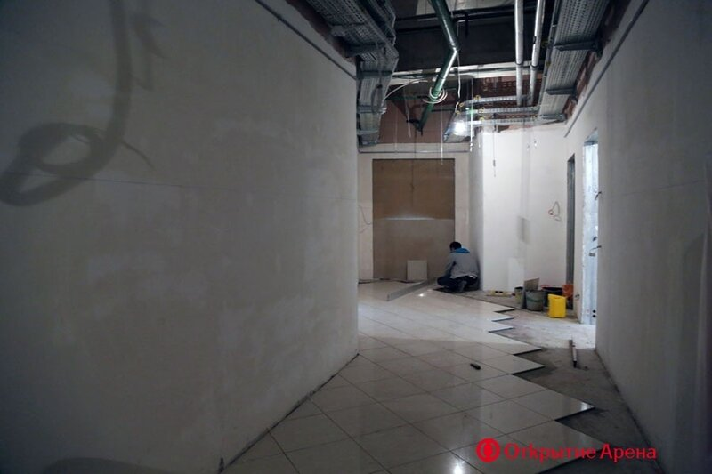 Подготовительные работы под газон и чистовая отделка помещений на стадионе «Спартак» (Фото)