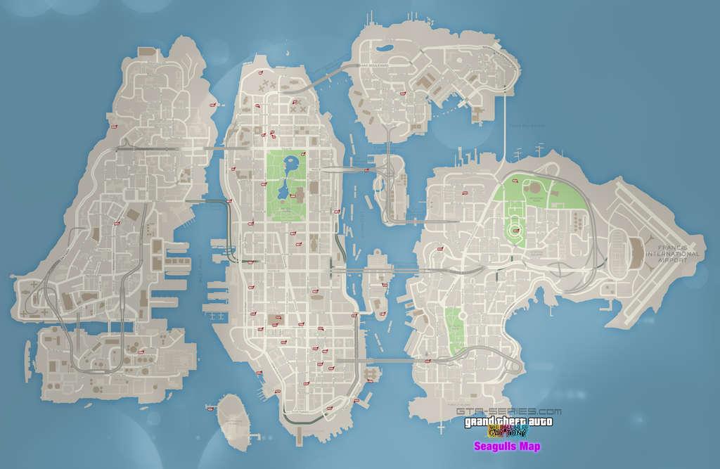 Карта 50 чаек