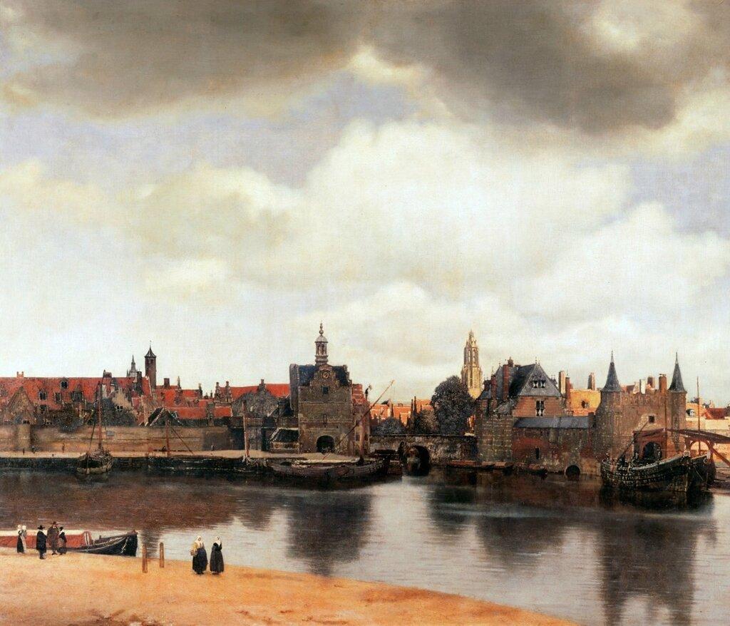 14.Вид города Делфта (1660-1661) (96.5 × 117.5) (Гаага, Королевская галерея Маурицхёйс).jpg