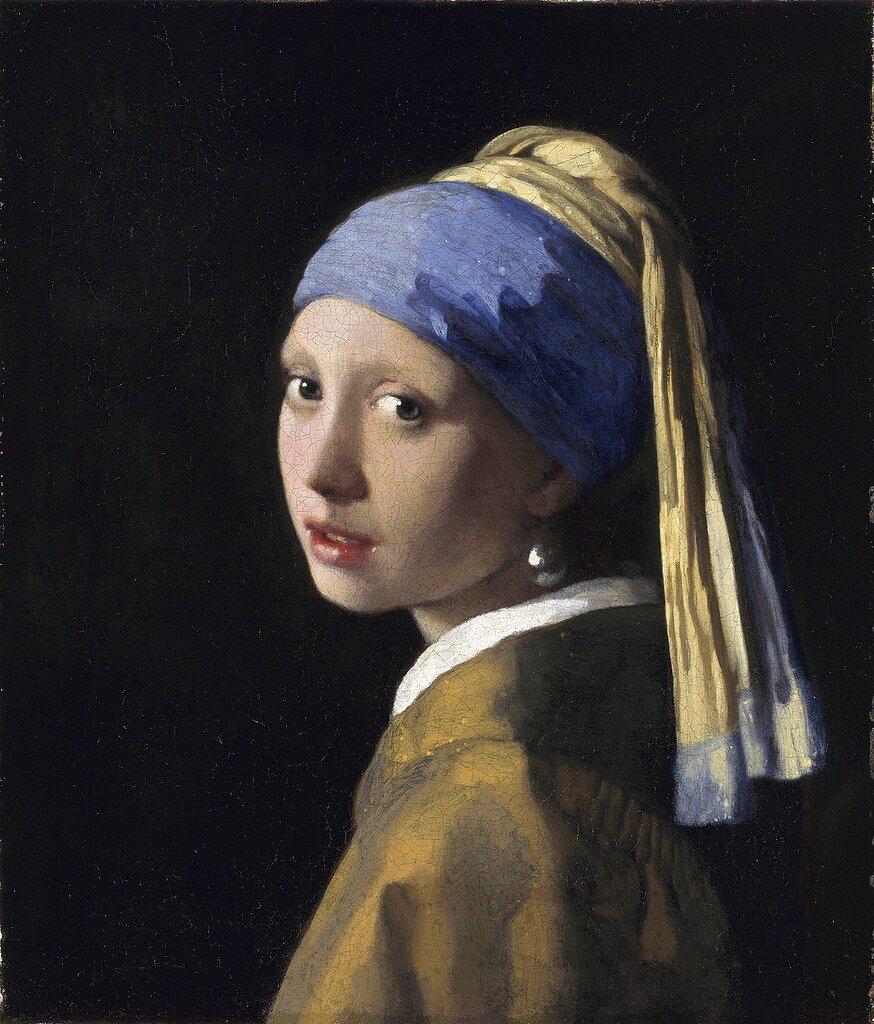 27.Девушка с жемчужной серёжкой (ок.1665) (46.5 × 40) (Гаага, Галерея Маурицхейс)..jpg