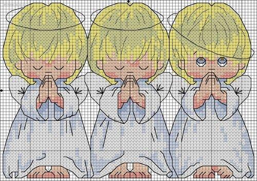 Вышиваем ангелов: схемы для