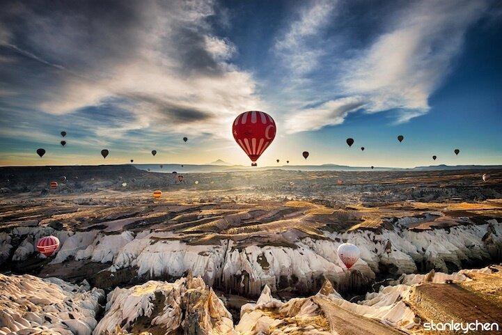 Каппадокия - полеты на воздушных шарах