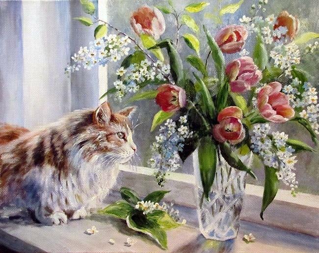 Ольга Воробьёва. А за окном весна....jpg