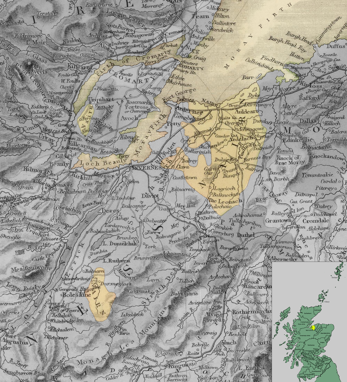 Карта Нэрншира