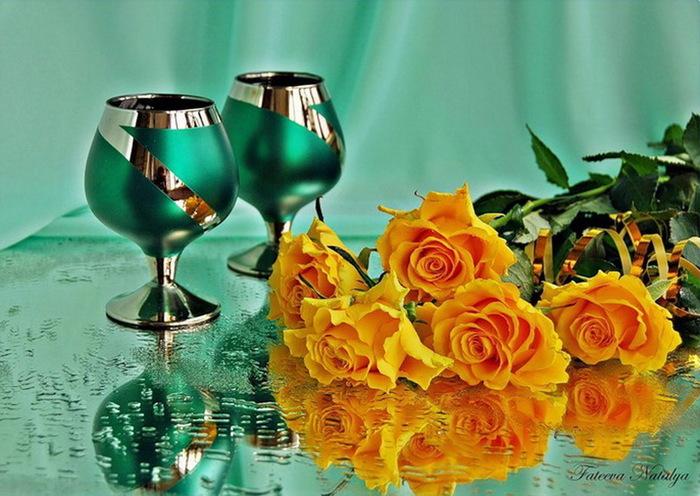 Эти розы для тебя, мое солнышко!