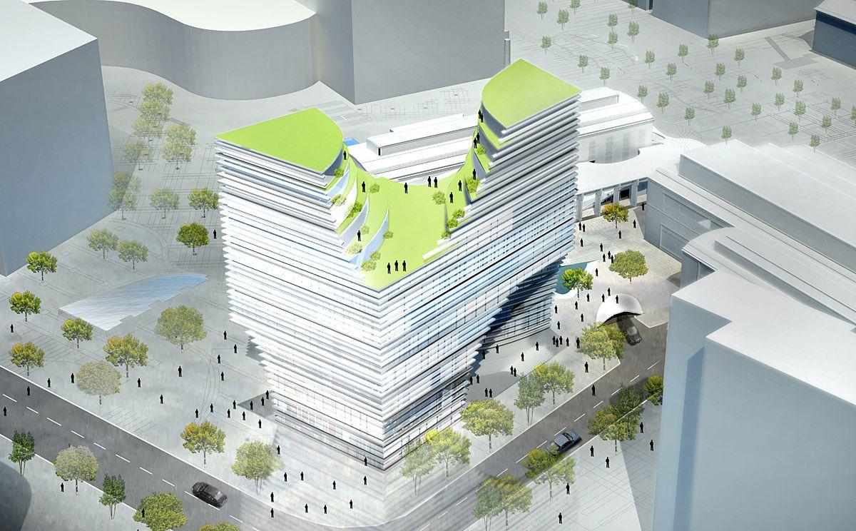 Проект Hangzhou Gateway от JDS Architects (5 фото)