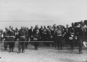 Группа генералов на параде полка.