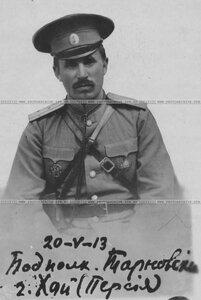 Подполковник бригады Тарковский (портрет).