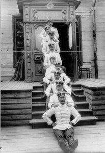 Группа офицеров лейб-гвардии Кирасирского Его Величества полка.
