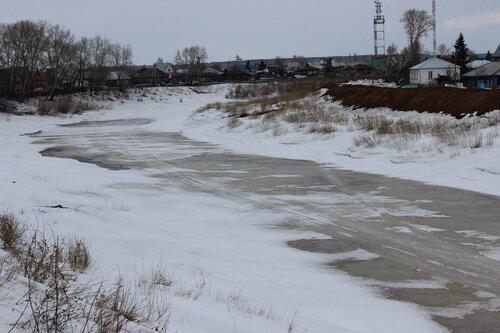 река Омка вскрывается,