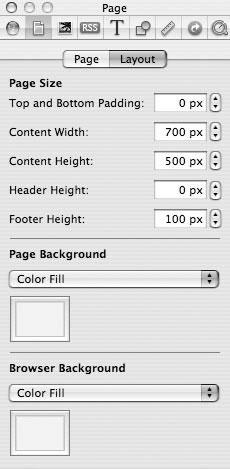 Рис. 9.63. Задание размеров страницы и фона