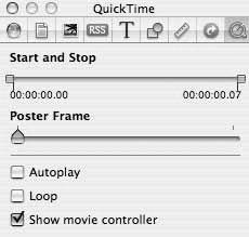 Рис. 9.73. Нет никакой необходимости вручную кодировать файлы QuickTime