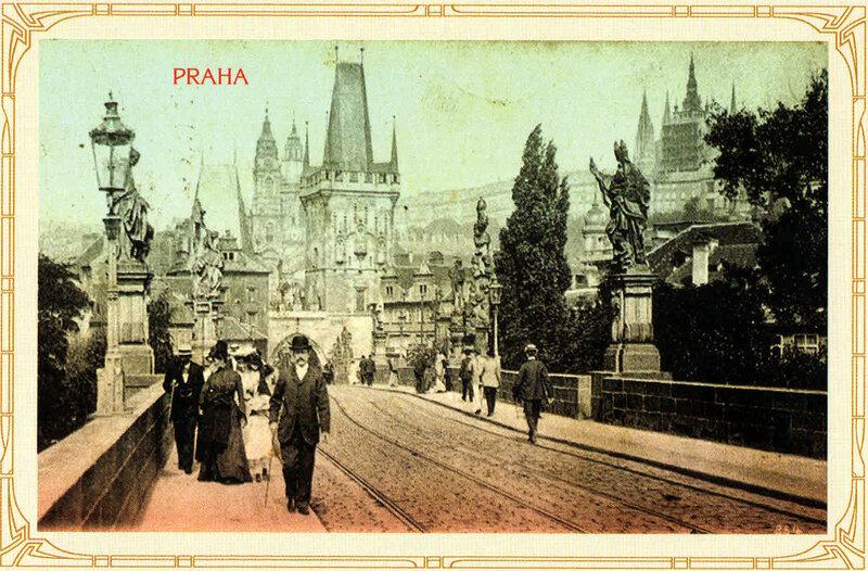 20. Карлов мост и Мала-Страна (Малый Город). 1902 год