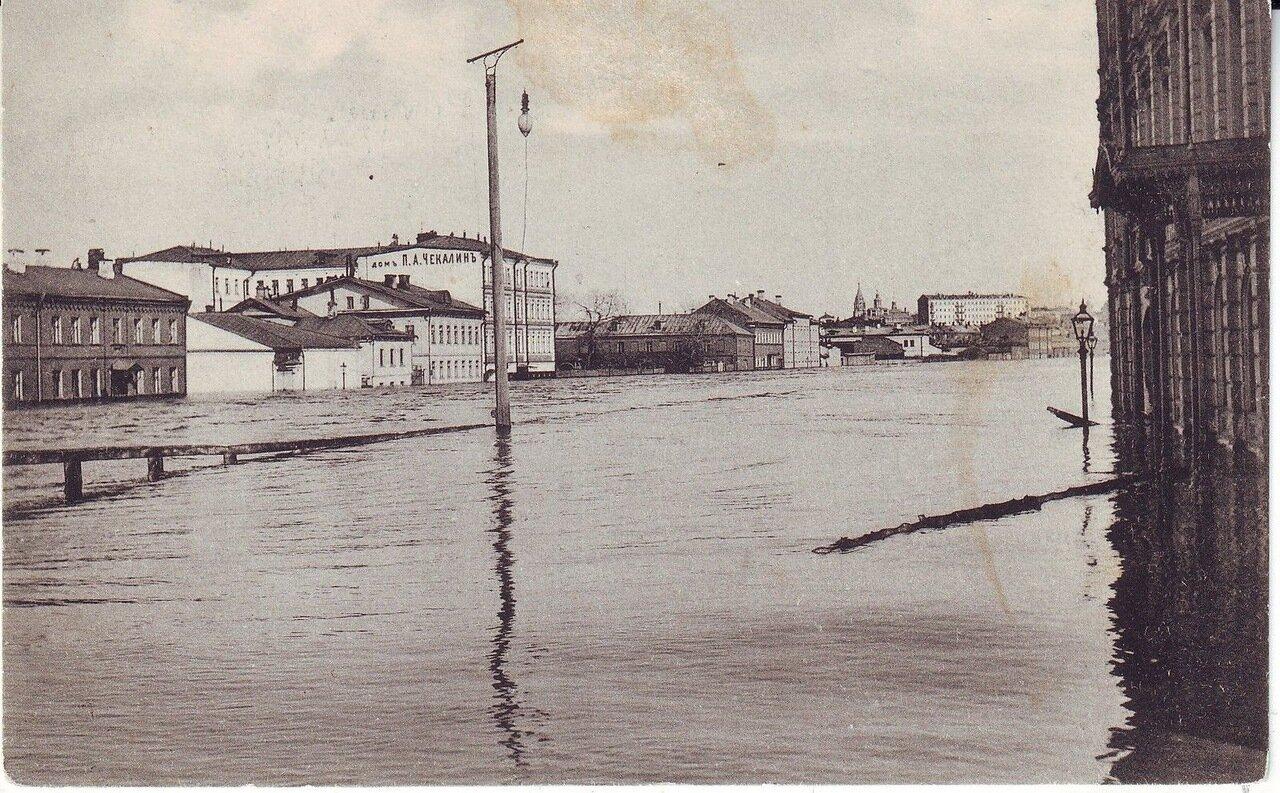 Наводнение в Москве 1908 года. Кулаковская набережная