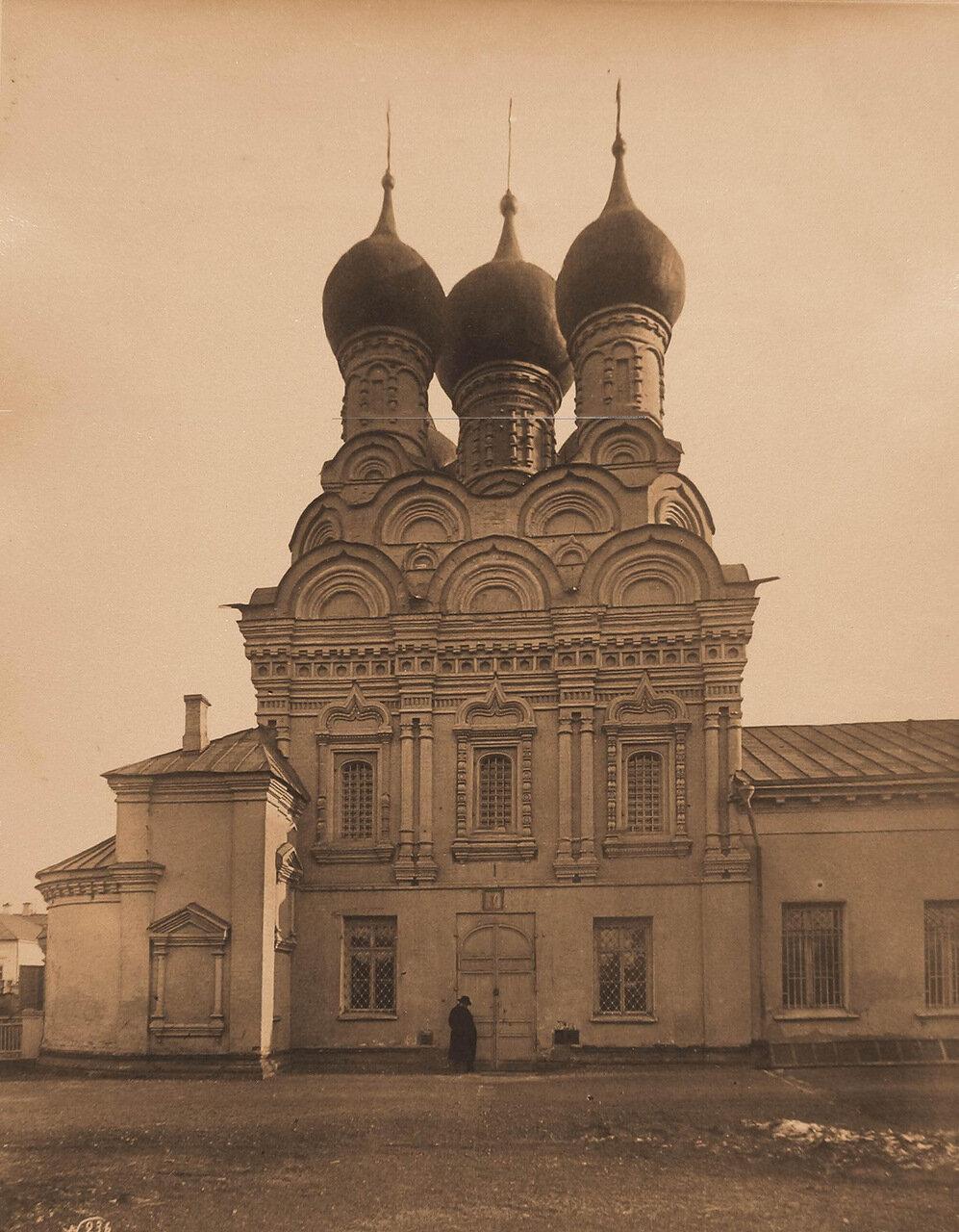 Вид северного фасада церкви Николая Чудотворца в Пыжах на Б.Ордынке