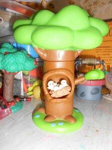 Животные Леса №12 - Гнездо филина и третья часть дерева (середина)