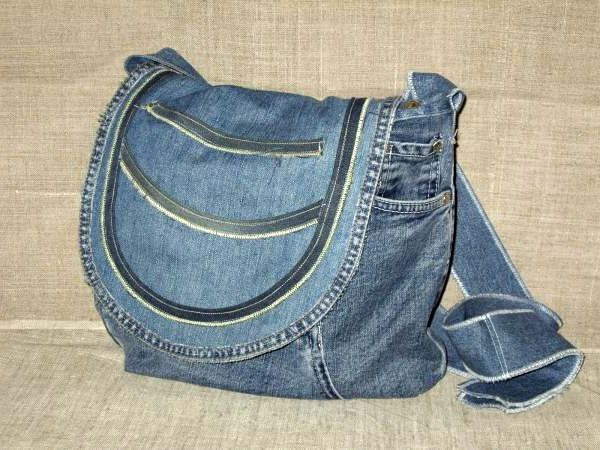 Bags of jeans denim.
