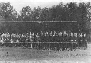 Поздравление Павловского полка в строю на параде полков.