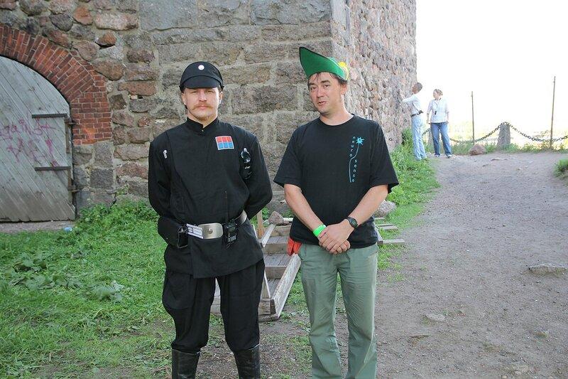 имперский гвардеец и тирольский стрелок - фестиваль «Майское дерево 2014»
