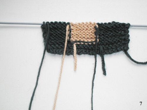 Многоцветное вязание спицами техникой «интарсия»