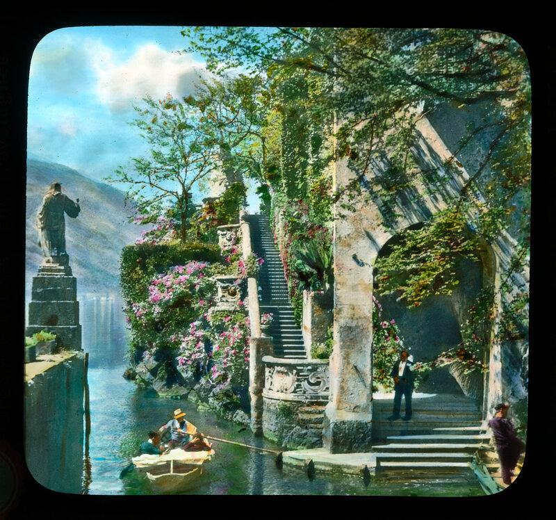 Lake Como. Villa Balbianello: boat landing and steps