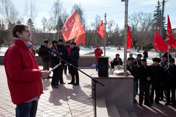 Митинг в Томске в поддержку Крыма 14