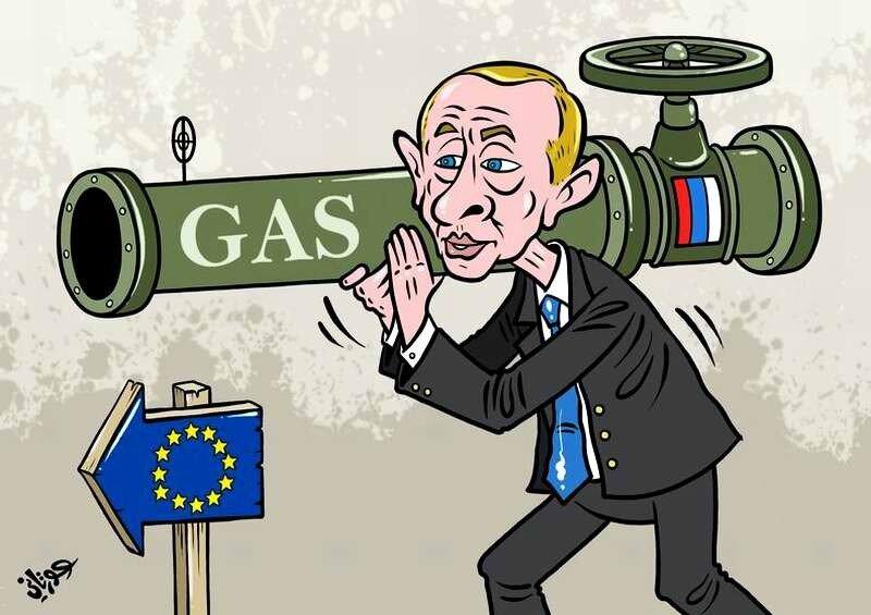Путин грозит сократить поставки газа на Украину и в страны ЕС (Jehad Awrtani)