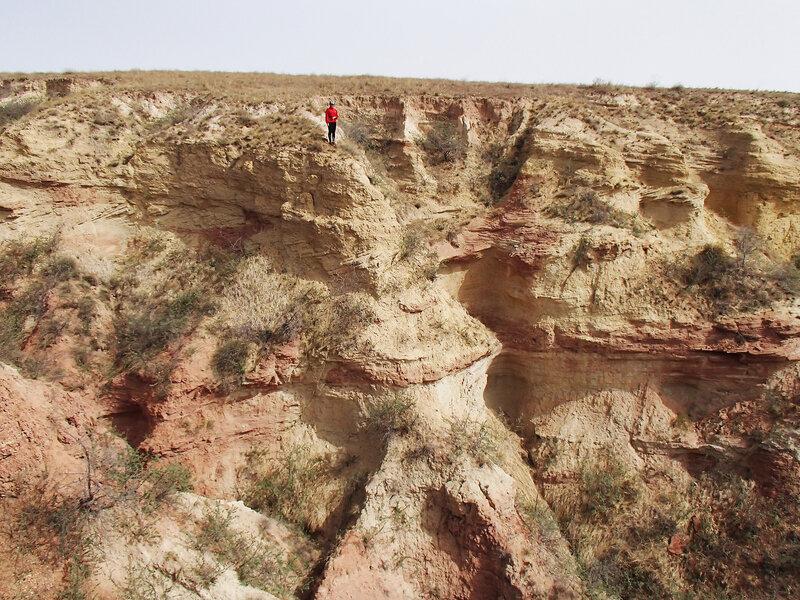 овраг плато Ордос, Внутренняя Монголия, Китай