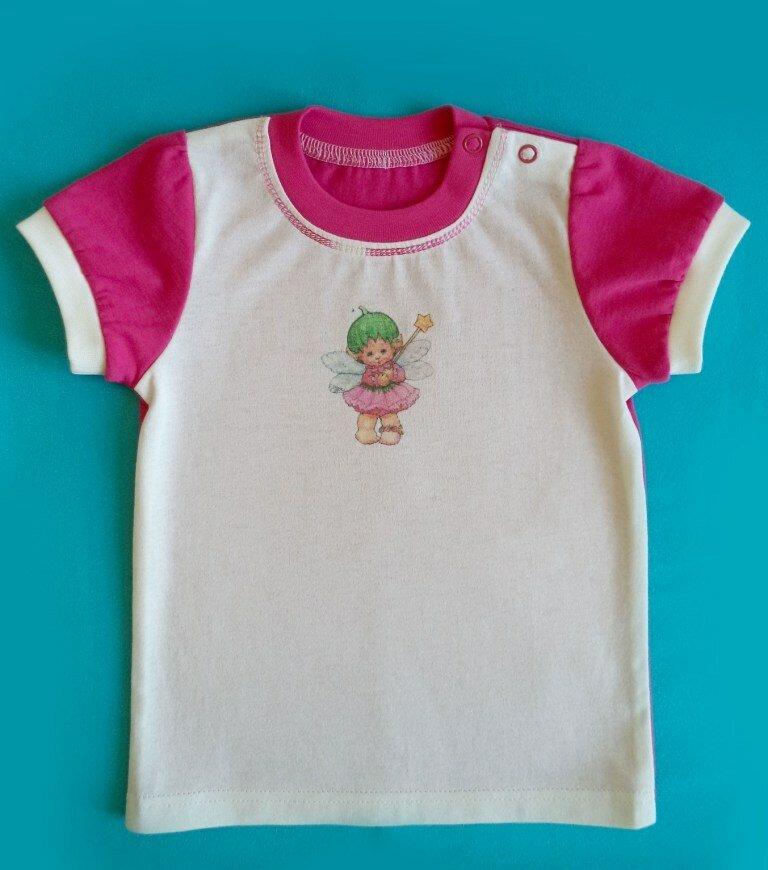 мои петельки и стежки детская футболка с застежкой на плече мк