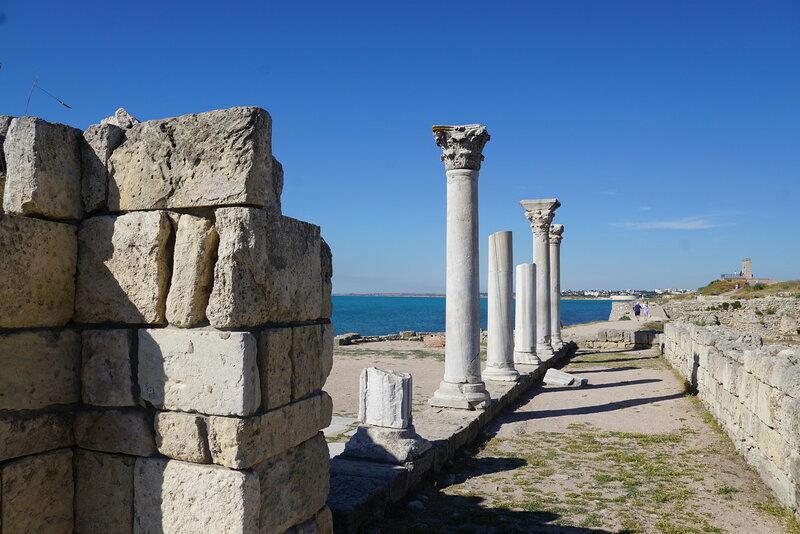 Колонны храма Херсонеса Таврического