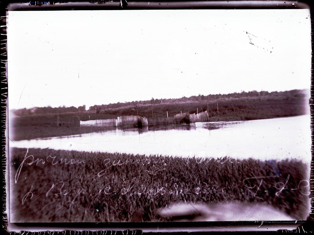 1912. Река Вах, речной запор
