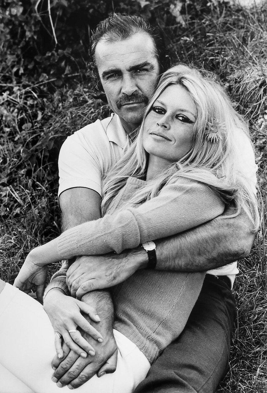 1968. Брижит Бардо и Шон Коннери. Франция