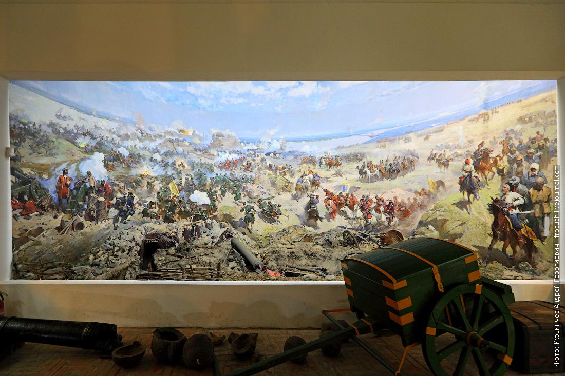 Диорама художника А.Чернышева «Штурм Азова 18 июля 1696 года»