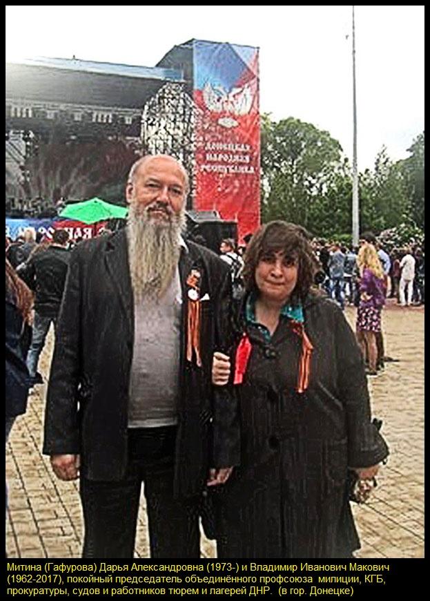 Митина Дарья Александровна(1973-) и Владимир Иванoвич Макoвич(1962 — 2017) в Донецке (800, чёрная рамка)