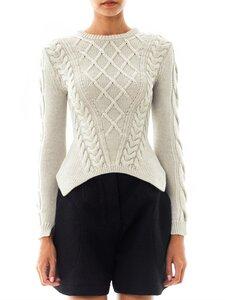 Осиная талия от Carven - свитер спицами