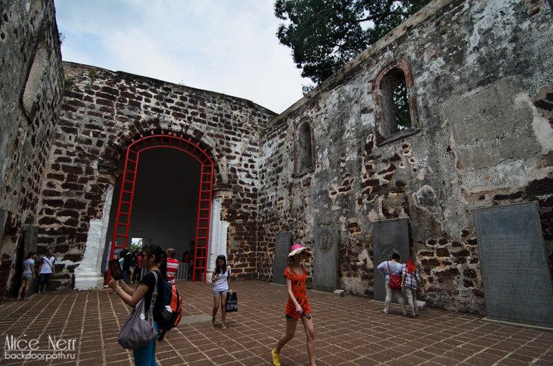 Porta de Santiago ruins in Melacca