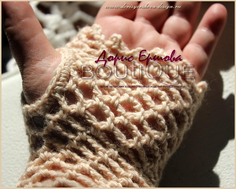 митенки, ажурные перчатки, дизайн Дорис Ершовой, вязанье крючком, Фото, дизайн и исполнение ажурных вещей - © Дорис Ершова