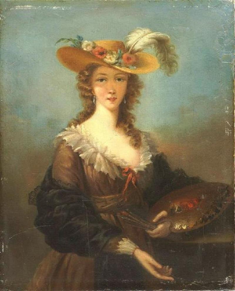 э Marie Elisabeth-Louise Vigée-Lebrun - Selbstbildnis mit Sommerhut.jpg