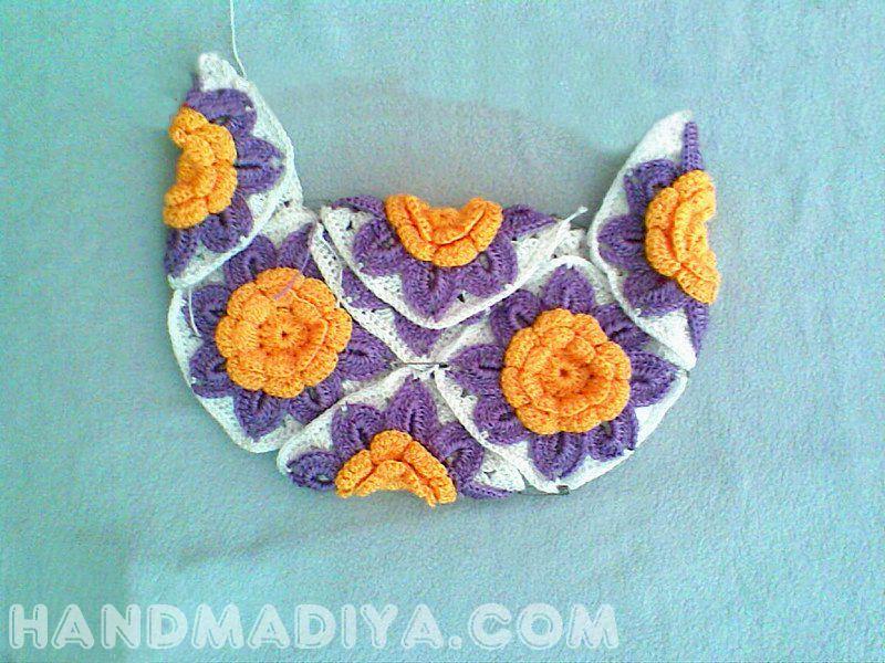 Вяжем крючком летнюю сумку. Knit crochet summer bag