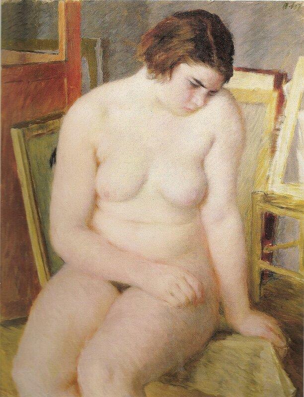 Обнаженная натурщица, 1937 г. | Nude model, 1937