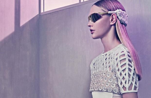 Саша Пивоварова (Sasha Pivovarova) в рекламной фотосессии для Balenciaga (9 фото)