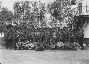 Духовой оркестр батальона .