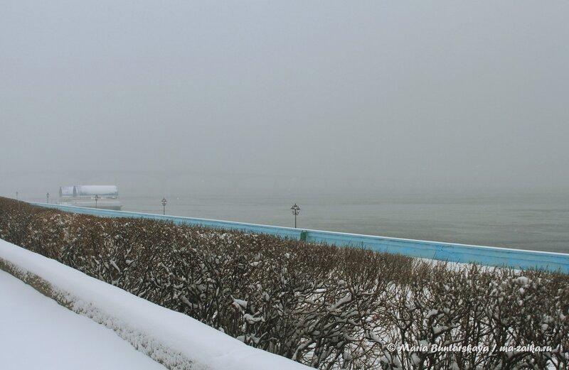 Туманное весеннее утро, Саратов, 30 марта 2014 года