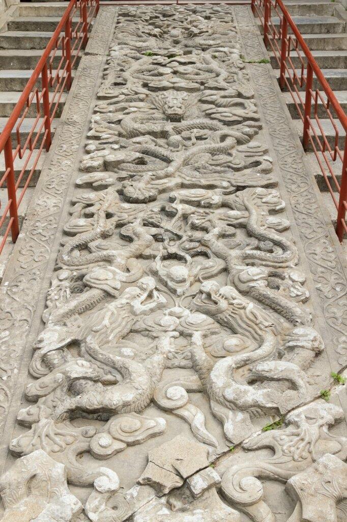Барельеф с драконами, Храм Конфуция, Пекин