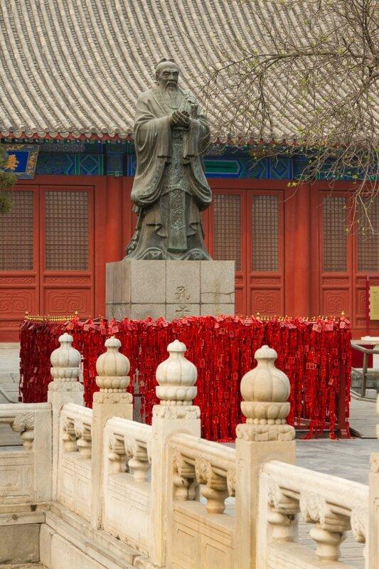 Статуя Конфуция в Императорской Академии, Пекин