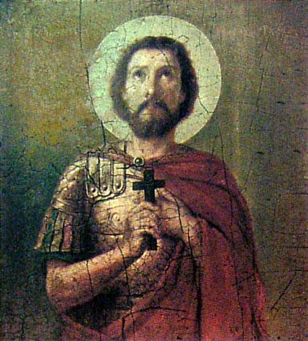 Икона Феодора Тирона из Троицкой церкви