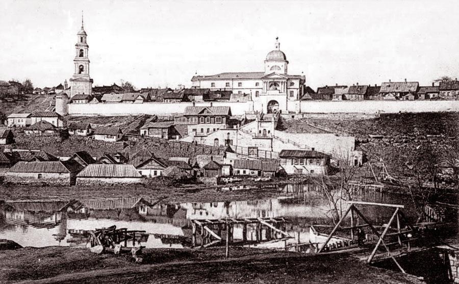 Знаменский монастырь Ельца в начале XX века
