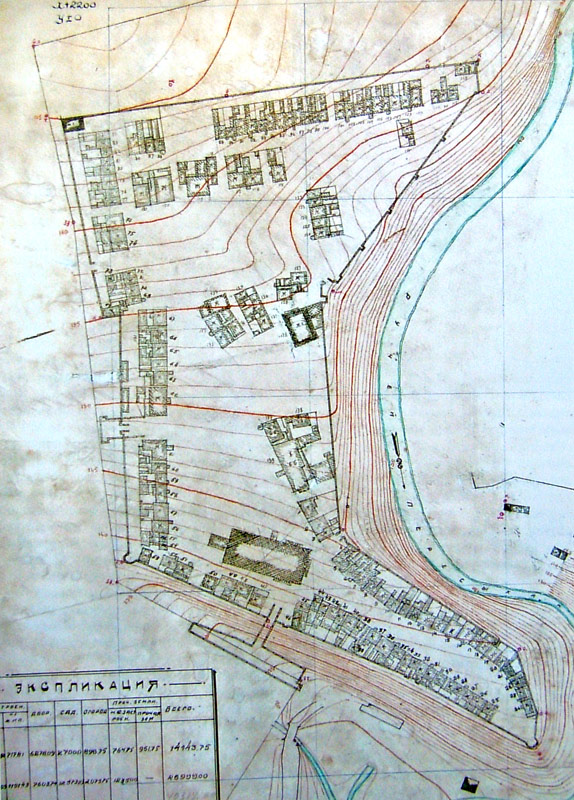 План Знаменского монастыря Ельца 1931 года